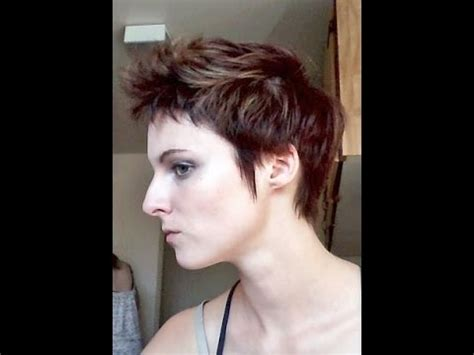 how often do you relax short pixie cut how to style a pixie cut relaxed faux hawk youtube