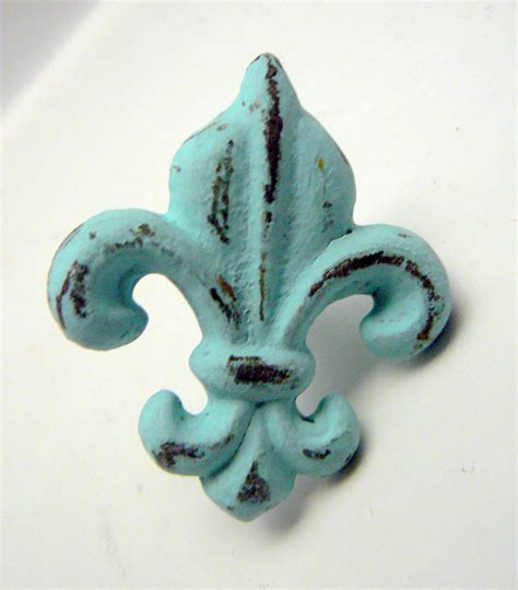 fleur de lis cast iron fdl drawer pull knob cabinet knobs