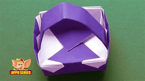 Origami Learn - origami learn to make a basket doovi