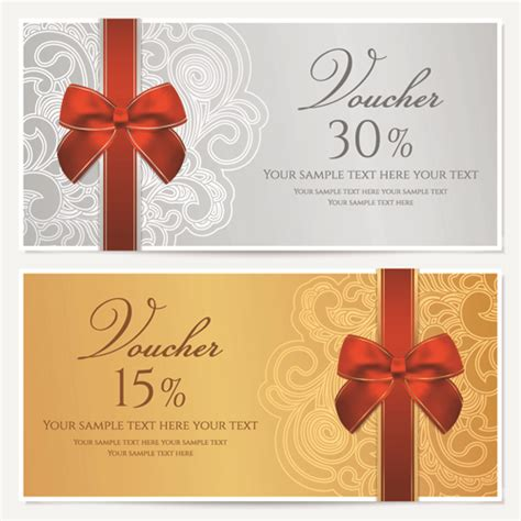 templates for vouchers design exquisite vouchers template design vector set 01 vector
