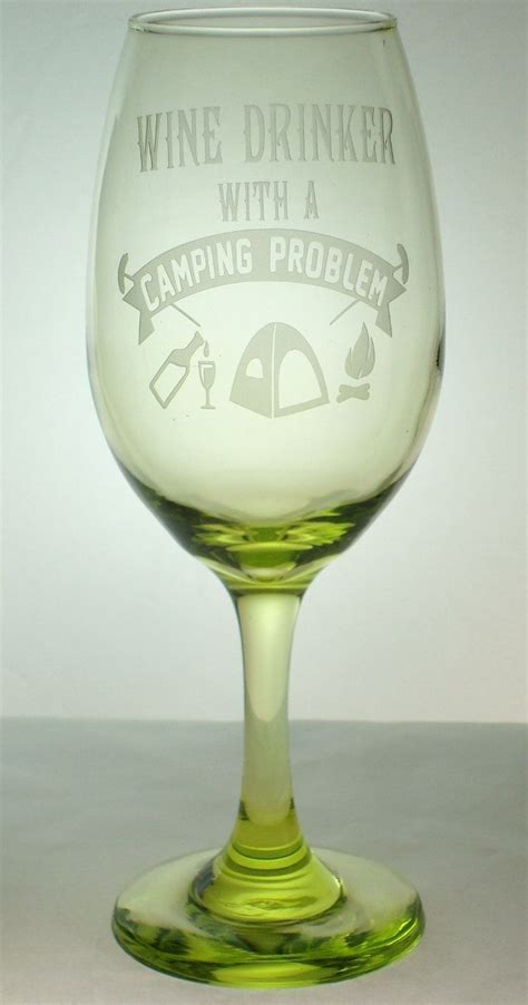 Green Etched Sand Carved Wine Glass Wine Drinker