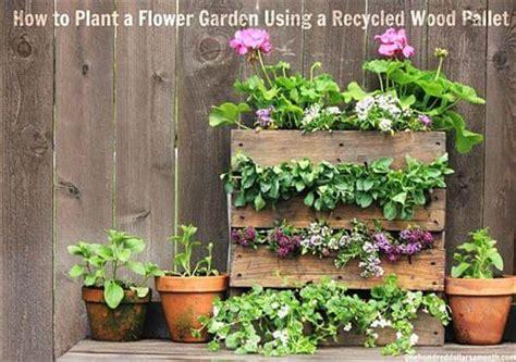 Diy Pallet Mini Flower Garden 99 Pallets Diy Flower Garden