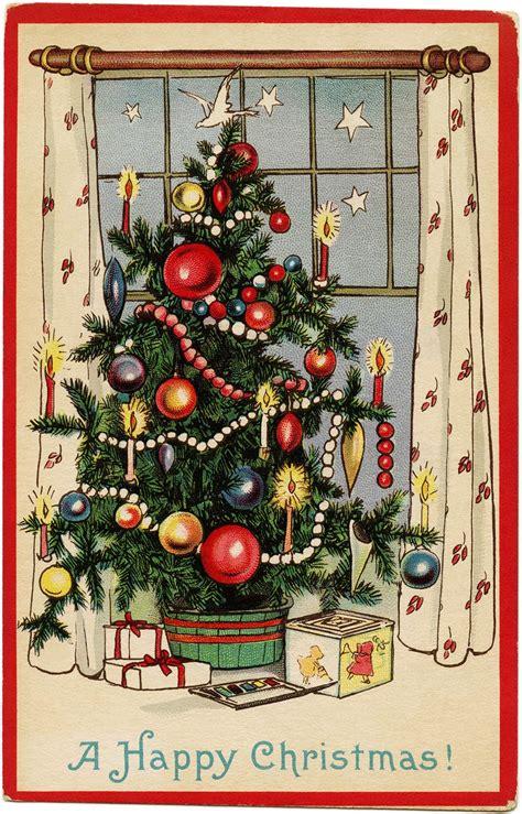 printable christmas cards pinterest decorated christmas tree old design shop blog