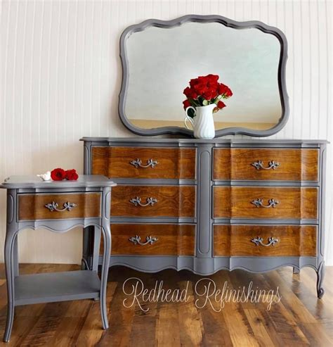 Provincial Nightstand Dresser Set In Driftwood Antique Walnut General Finishes Provincial Nightstand Dresser Set In Driftwood Antique Walnut General Finishes