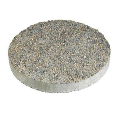 decorative stepping stones home depot anchor 16 in x 16 in round exposed aggregate gray concrete step stone 12102340 the home depot