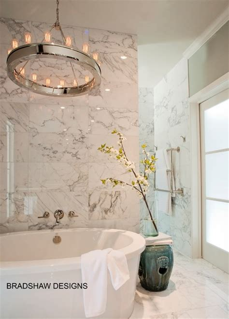 Bathroom Fixtures San Antonio Glam Calacatta Marble White Bath In Castle San Antonio Modern Bathroom