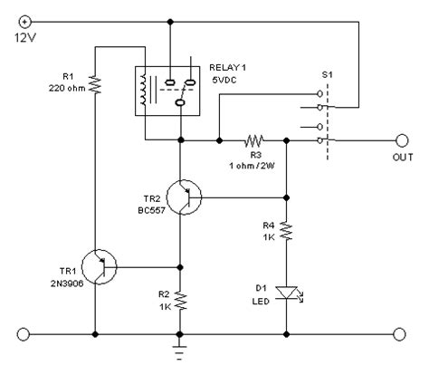ressettable electronic fuse circuit breaker circuit for