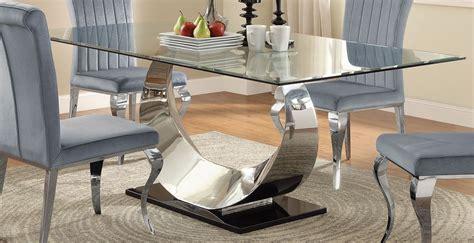 chrome dining room sets manessier chrome dining room set 107051 coaster furniture