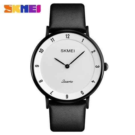 Jam Tangan Black Leather By skmei jam tangan analog pria pu leather 1263 black black jakartanotebook