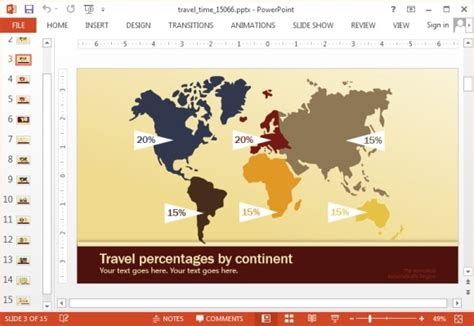 Animated Travel Time Powerpoint Template Microsoft Powerpoint Templates Tourism