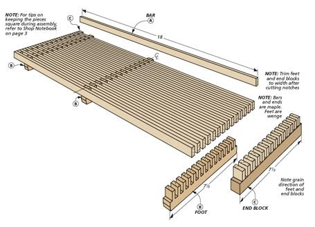 trivet centerpiece woodworking project woodsmith plans