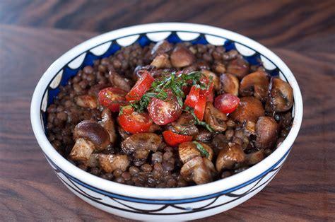recipes with lentils vegetarian lentils and mushrooms recipe herbivoracious