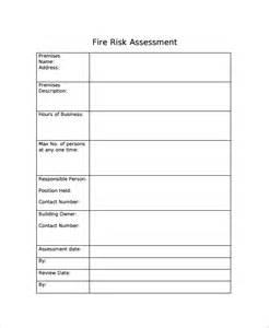 sample risk assessment checklist template 9 free