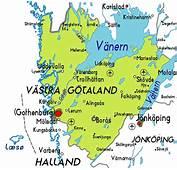 V&228stra G&246taland Karta &246ver Staden  Sverige Stadskarta