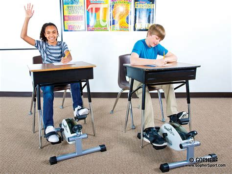 kinesthetic classroom pedal desks deskcycle gopher sport