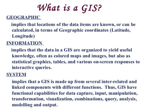 theme definition gis geographic information system