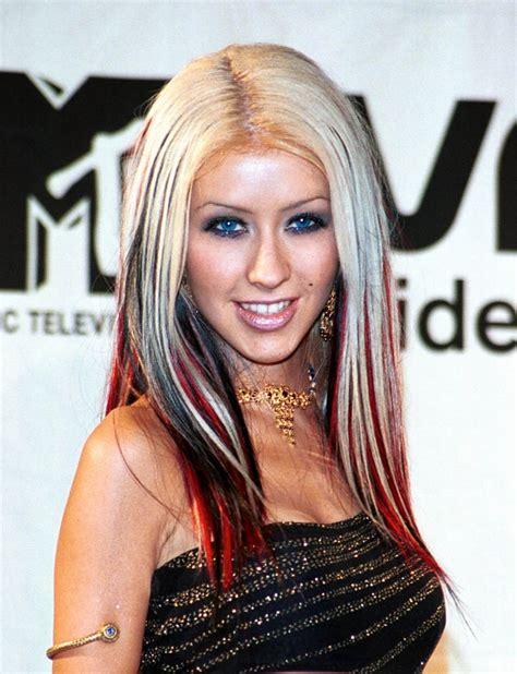 aguilera hair color aguilera hair evolution popsugar
