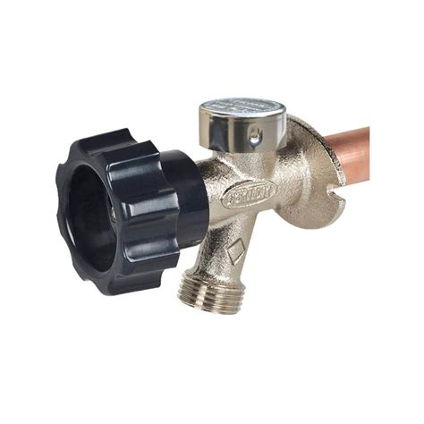 backyard faucet prier products 1 2 in x 12 in brass mpt x s half turn