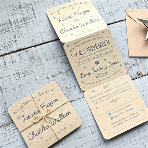 folding book invitations for a tri folded recycled wedding invitation by paper and
