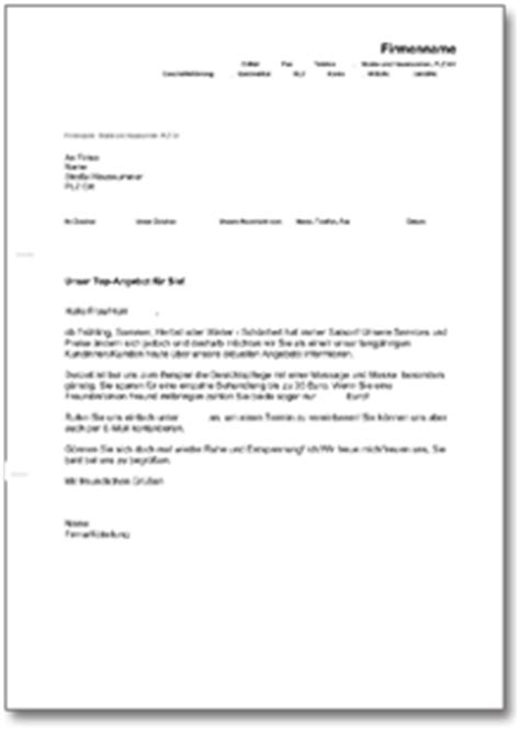 Werbebrief Vorlagen Muster Werbebrief F 252 R Einen Kosmetik Salon De Musterbrief
