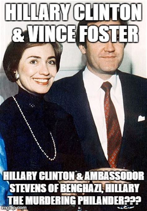 hillary clinton and vince foster imgflip