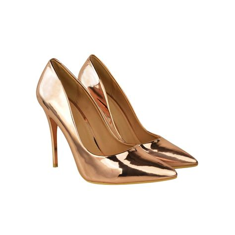 metallic gold high heels gold metallic pointed toe high heel slip on court