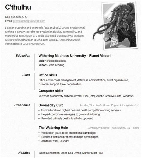 Curriculum Vitae Waitress by 286 Best Images About Resume On Entry Level 2017 Yearly Calendar And Exle Of Resume