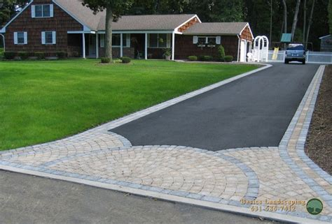 Paver Patio Edging Options Driveway With Paver Apron And Borders House Ideas Landscape Services