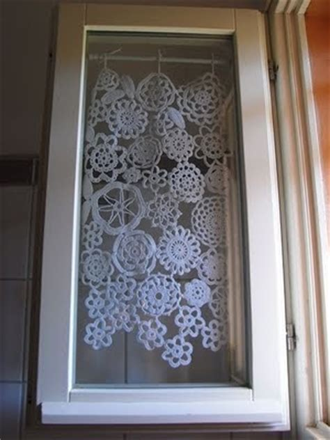 1000  images about Crocheted curtains on Pinterest