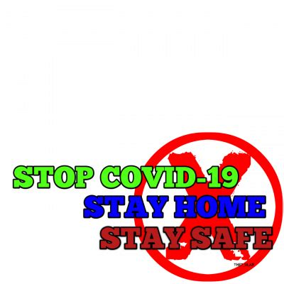 stop covid  stay home stay safe