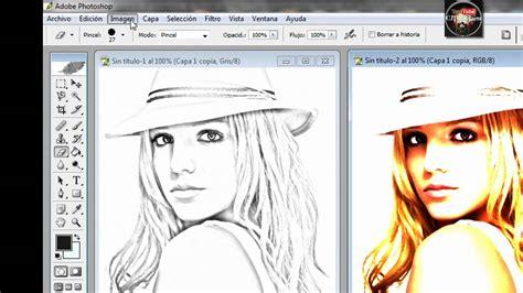 tutorial photoshop cs5 español efectos para fotos hacer efecto de dibujo en photoshop youtube