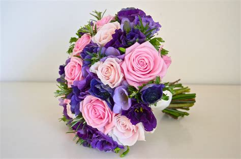 Wedding Flowers Purple by Wedding Flowers Jonquil S Pink And Purple Wedding