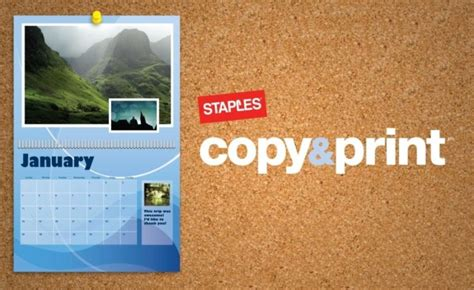 make your own calendar staples 13 for a customized deluxe 11 quot x17 quot calendar from staples