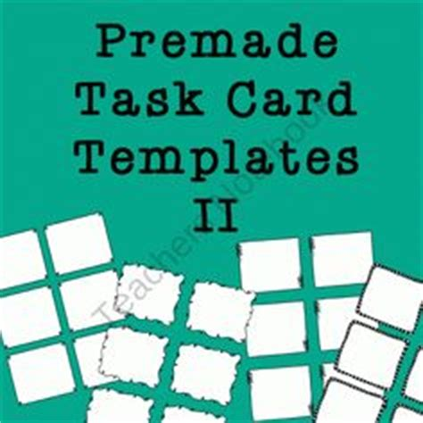 how to make task card templates 1000 images about diy task cards on free task