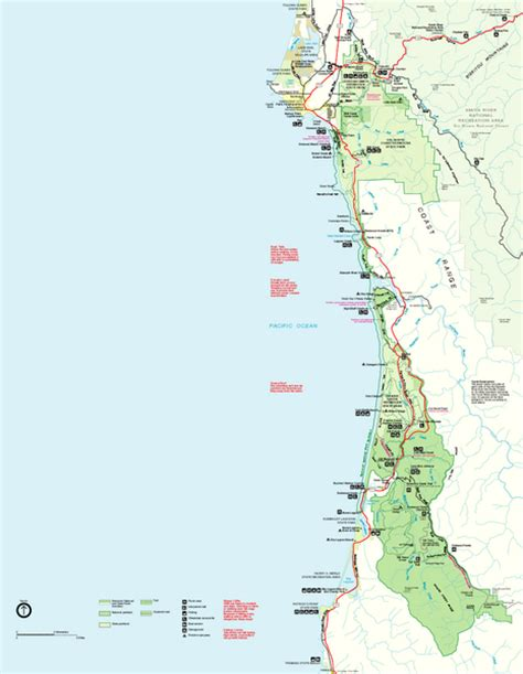 map of california with national parks info redwoods national park map