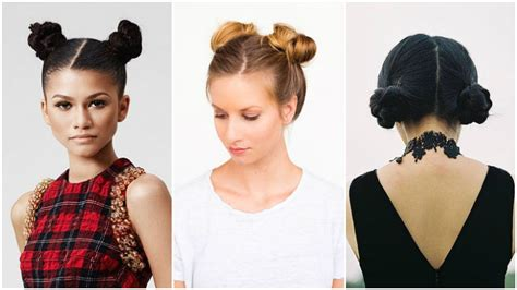 Two Buns Hairstyle Hair Black by 10 Easy Hairstyles For Hair The Trend Spotter