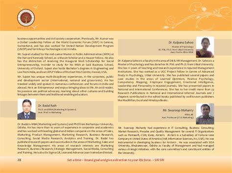 Harvard Mba Prospectus by Prospectus Mba Fms Sri Sri