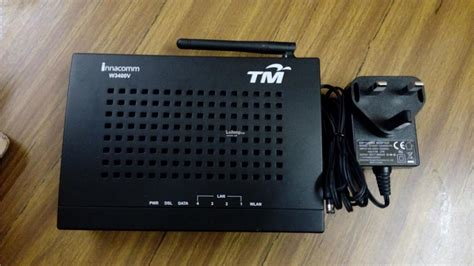 Modem Wifi Streamyx innacomm w3400v tm streamyx wifi 4 port modem rout end 3