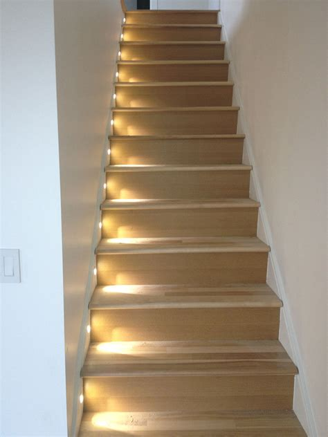 beleuchtung treppenaufgang led stairs install adl electric