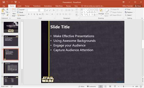 Free Star Wars Powerpoint Template Wars Powerpoint Template