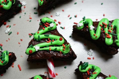 easy christmas tree brownies recipe mum s lounge
