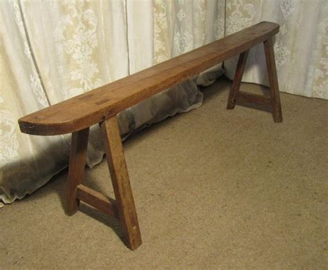 narrow wooden bench french rustic cherry wood farmhouse harvest bench antiques atlas