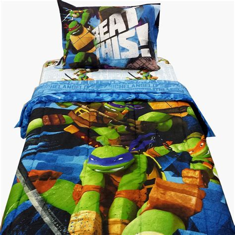 ninja turtle comforter 4pc teenage mutant ninja turtles twin bedding tmnt
