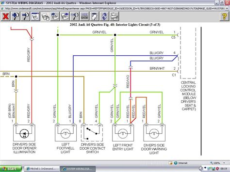 My 2002 Quatrro A6 Owners Manual And Fuse Panel Diagram