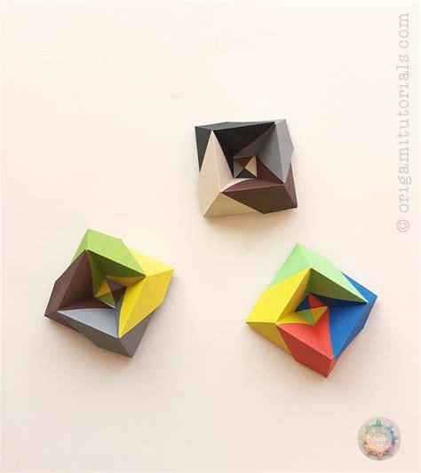 Visible Origami - origami albers box origami tutorials
