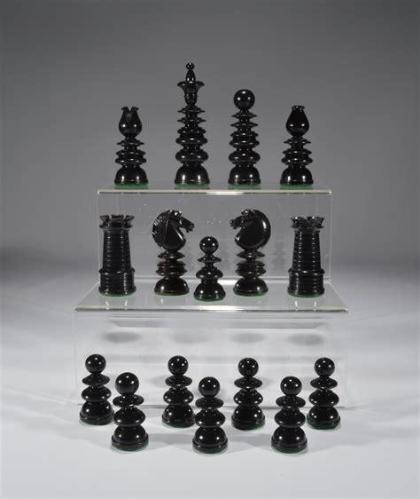 size chess antique club size calvert chess set