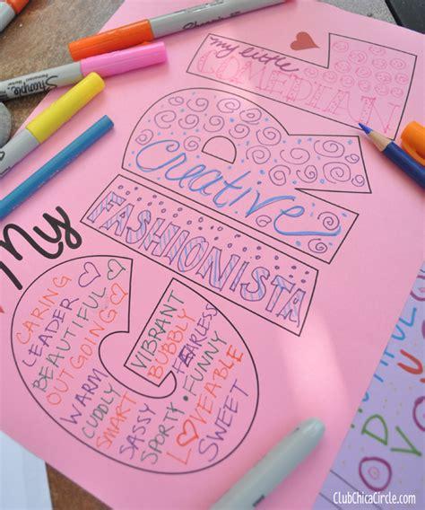 Self Esteem Craft Activity Idea