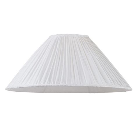 18 inch l shade 18 inch pleated easy to fit shade cream from litecraft