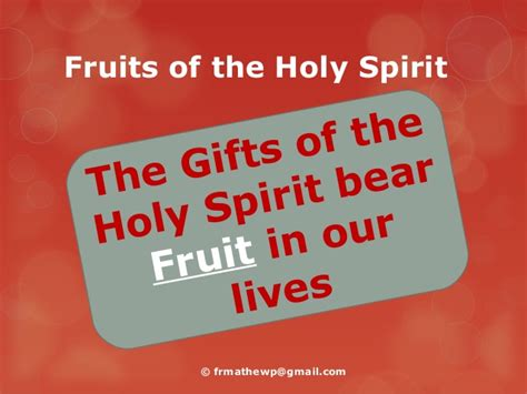6 fruits of the holy spirit the fruits of the holy spirit