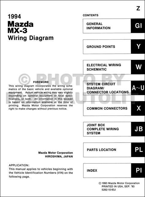 automotive service manuals 1994 mazda mx 3 parental controls 1994 mazda mx 3 wiring diagram manual original